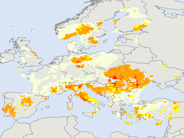 Maps Of Current Droughts In Europe